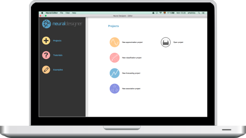 Neural Designer start page